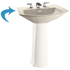 Click here to see Toto LT960#12 Toto LT960#12 Sedona Beige Soiree Pedestal Lavatory, Sink Only Single Hole