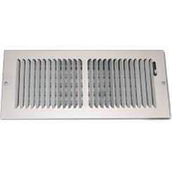 Click here to see Shoemaker 850-12X6 Shoemaker 850 Series 12X6 White 2-Way Stamped Vent Cover