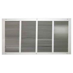 Click here to see Shoemaker 1050-14X10 14x10 Soft White Return Air Grille (Stamped from Cold Roll Steel) - Shoemaker 1050