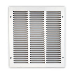 Click here to see Shoemaker 1050-12X16 12x16 Soft White Return Air Grille (Stamped from Cold Roll Steel) - Shoemaker 1050