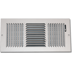 Click here to see Shoemaker 845-14X10 14in X in10 White 3-Way Stamped Vent Cover - Shoemaker 845 Series