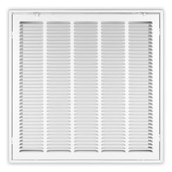 Click here to see Shoemaker FG1-14X14 14x14 Soft White Stamped Face 1-inch Filter Grille (Steel) - Shoemaker FG1