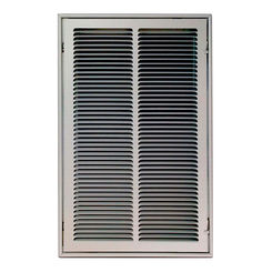 Click here to see Shoemaker FG1-20X8 20X8 Soft White Stamped Face 1-inch Filter Grille (Steel) - Shoemaker FG1