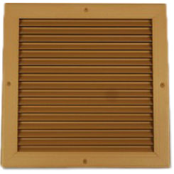 Click here to see Shoemaker 4100-14X4 14X4 Driftwood Tan Transfer Door Grille with Additional Loose Frame (Aluminum) - Shoemaker 4100