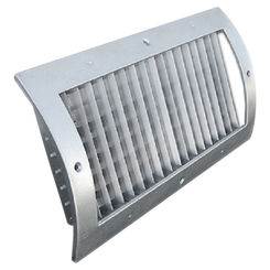 Click here to see Shoemaker RS34-10X4G 10X4 White Vent Cover (Galvanized)-Shoemaker RS34-GALV Series
