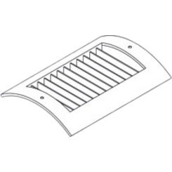 Click here to see Shoemaker RS52-16X6G 16X6G Soft White Radius Spiral Pipe Diffuser Single Deflection- Shoemaker RS52-Galv