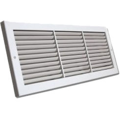 Click here to see Shoemaker 1100FF-32X12 32x12 Soft White Deluxe Baseboard Return Air Grille (Aluminum) - Shoemaker 1100FF