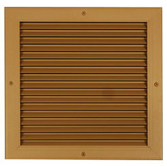 Click here to see Shoemaker 4000-34X20 34X20 Driftwood Tan Single Frame Aluminum Transfer Door Grille (Aluminum) - Shoemaker 4000