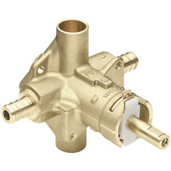 Click here to see Moen 62380 Moen 62380 Rough In Pex Ready Posi Temp Tubshower Rough In Valve Pex Connection