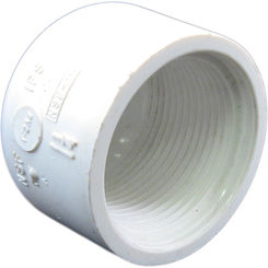 Click here to see Commodity  PVCCAP114T Schedule 40 PVC Threaded Cap, 1-1/4 Inch