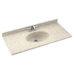 Click here to see Swanstone CH02237.072 Swanstone CH1B2237-072 Chesapeake Pebble Vanity Top