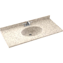 Click here to see Swanstone CH02261.046 Swanstone CH1B2261-046 Chesapeake Almond Galaxy Vanity Top
