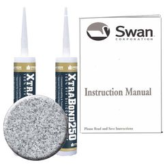 Click here to see Swanstone SS72000.042 Swanstone SS-72-042 Gray Granite Tub Wall Installation Kit