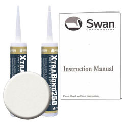 Click here to see Swanstone SS72000.121 Swanstone SS-72-121 Glacier Tub Wall Installation Kit