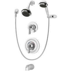 Click here to see Symmons 4706-TRM Symmons 4706-TRM Chrome Allura Series Tub/Shower/Hand Shower System