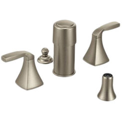 Click here to see Moen T5269BN Moen T5269BN Voss Series Two-Handle Bidet Faucet (Brushed Nickel)