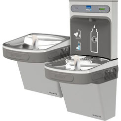 Click here to see Elkay EZSTL8WSLK Elkay EZSTL8WSLK ezH2O Bottle Filling Station w/ Versatile Cooler - Bi-Level, Non-Filtered, 8 GPH, Wall Mount, ADA, Light Gray