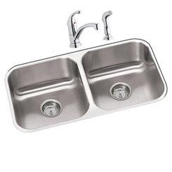 Click here to see Elkay DXUH3118DF Elkay DXUH3118DF Dayton Stainless Steel Double Bowl Sink Package