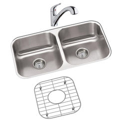 Click here to see Elkay DXUH3118DFBG Elkay DXUH3118DFBG Dayton Stainless Steel Double Bowl Sink Package