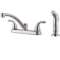 Click here to see Pfister G135-800S Pfister G135-800S Pfirst Two-Handle Kitchen Faucet, Stainless Steel