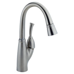 Click here to see Delta 999-AR-DST DELTA 999-AR-DST ALLORA ONE HANDLE PULLDOWN BAR FAUCET ARCTIC STAINLESS