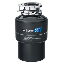 Click here to see Insinkerator CONTRACTOR-333-W/C Insinkerator Contractor 333-W/C 3/4 HP Garbage Disposal, Black - With Cord