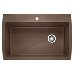 Click here to see Blanco 440192 Blanco 440192 Diamond Dual Mount Super Single Bowl Sink - Cafe Brown