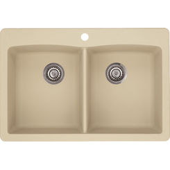 Click here to see Blanco 441217 Blanco 441217 Diamond Silgranit Dual Mount Equal Double-Bowl Sink (Biscotti)