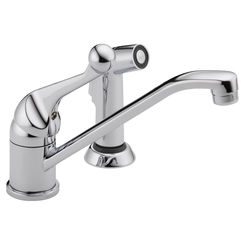 Click here to see Delta 175LF-WF Delta 175LF-WF Classic Single Handle Kitchen Faucet with Side Sprayer in Chrome