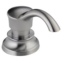 Click here to see Delta RP71543AR Delta RP71543AR CASSIDY Arctic Stainless Soap/Lotion Dispenser and Bottle