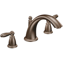 Click here to see Moen T933ORB Moen T933ORB Two Handle Low Arc Roman Tub Faucet