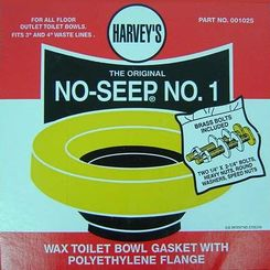 Click here to see Harvey 001025-N No-Seep #1 Toilet Gasket Wax Ring with Bolts