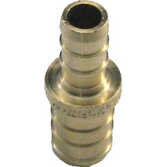 Click here to see Commodity  1/2 x 3/8 Inch PEX Bell Reducer, Brass Construction