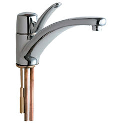 Click here to see Chicago Faucet 2300-ABCP Chicago Faucets 2300-ABCP Single Lever Hot and Cold Water Mixing Sink Faucet
