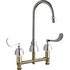 Click here to see Chicago Faucet 786-E29XKABCP Chicago Faucets 786-E29XKABCP Concealed Hot and Cold Sink Faucet