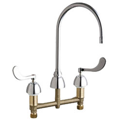 Click here to see Chicago Faucet 201-AGN8AE35-317AB Chicago Faucets 201-AGN8AE35-317AB Concealed Hot and Cold Sink Faucet