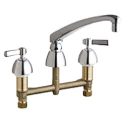 Click here to see Chicago Faucet 201-AL8-317XKABCP Chicago Faucets 201-AL8-317XKABCP Concealed Hot and Cold Sink Faucet