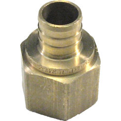 Click here to see   3/4 Inch PEX Female Adapter, Brass Construction