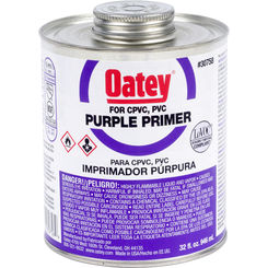 Click here to see Oatey 30758 Oatey 30758 1 Quart Purple Primer