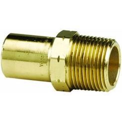Click here to see Viega 79380 Viega 79380 ProPress 1/2-Inch Copper Press Street Male Adapter, Zero Lead