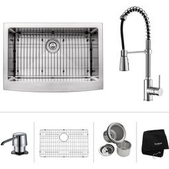 Click here to see Kraus KHF200-30-KPF1612-KSD30CH Kraus KHF200-30-KPF1612-KSD30CH Kitchen Sink And Faucet Combo