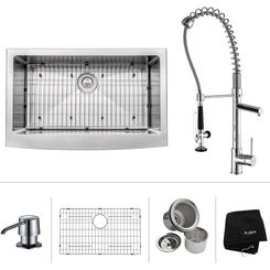 Click here to see Kraus KHF200-33-KPF1602-KSD30CH Kraus KHF200-33-KPF1602-KSD30CH Kitchen Sink And Faucet Combo