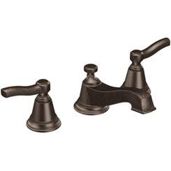Click here to see Moen TS6205ORB Moen T6205ORB Rothbury Two-Handle Low Arc Bathroom Faucet - Oil Rubbed Bronze