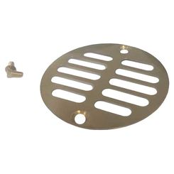 Click here to see Brasstech 230-1/24S Brasstech 230-1/24S Satin Gold Shower Drain Grill
