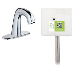 Click here to see Chicago Faucet EQ-D12A-53ABCP Chicago Faucets EQ-D12A-53ABCP EQ Chrome EQ Curved Series Lavatory Sink Faucet with Hands-free Infrared Detection