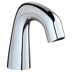Click here to see Chicago Faucet EQ-D11B-KJKABCP Chicago Faucets EQ-D11B-KJKABCP EQ Chrome 243.146.AB.1 1.0 GPM (3.8 L/min) Aerated Cache Outlet EQ Curved Electronic Integral Spout Assembly