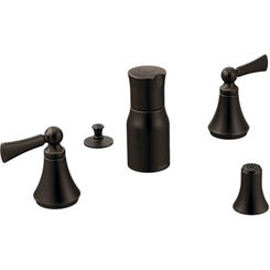 Click here to see Moen T5245ORB Moen T5245ORB Wynford Oil Rubbed Bronze Two Handle Bidet Faucet Trim