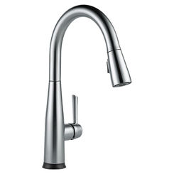 Click here to see Delta 9113T-AR-DST Delta 9113T-AR-DST Essa Arctic Stainless Single Handle Pulldown Kitchen Faucet