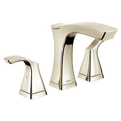 Click here to see Delta 3552-PNMPU-DST Delta 3552-PNMPU-DST Tesla Polished Nickel Two Handle Widespread Lavatory Faucet