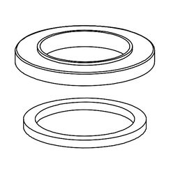 Click here to see Delta RP78366 Delta RP78366 Spout Flange and Gasket, Chrome